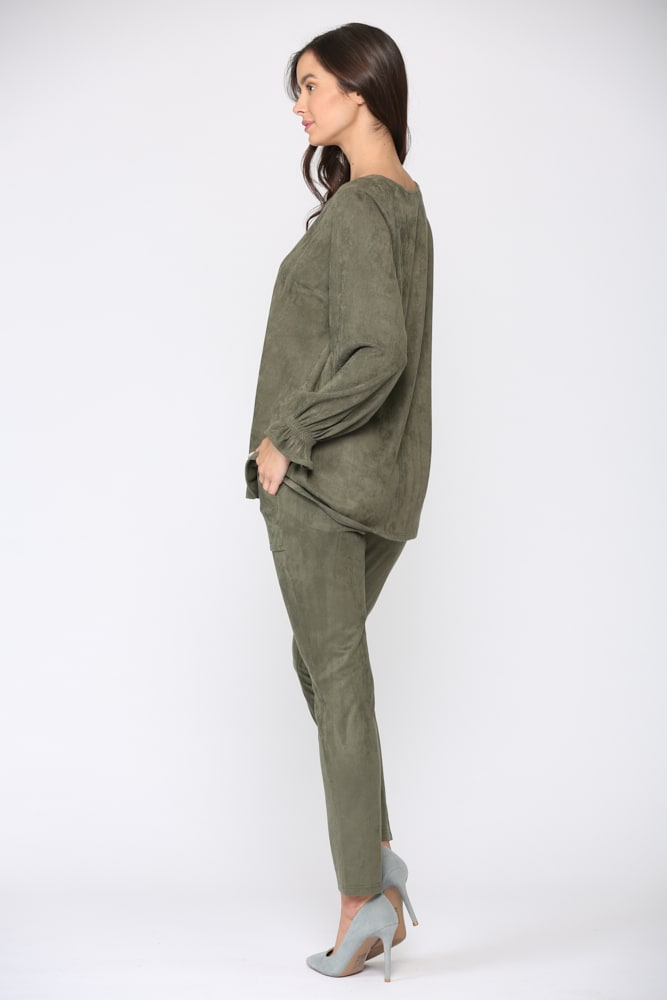 Abigail Top - Olive - Front