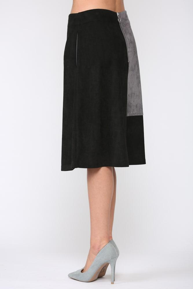 Alexandra Skirt - Gray / Black - Front