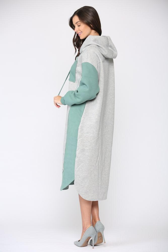 Fatima Color-block Dress - Green - Front