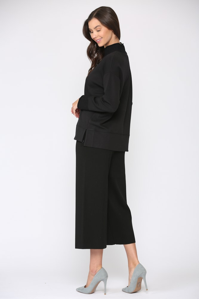 Felisa Knit Top - Black - Front