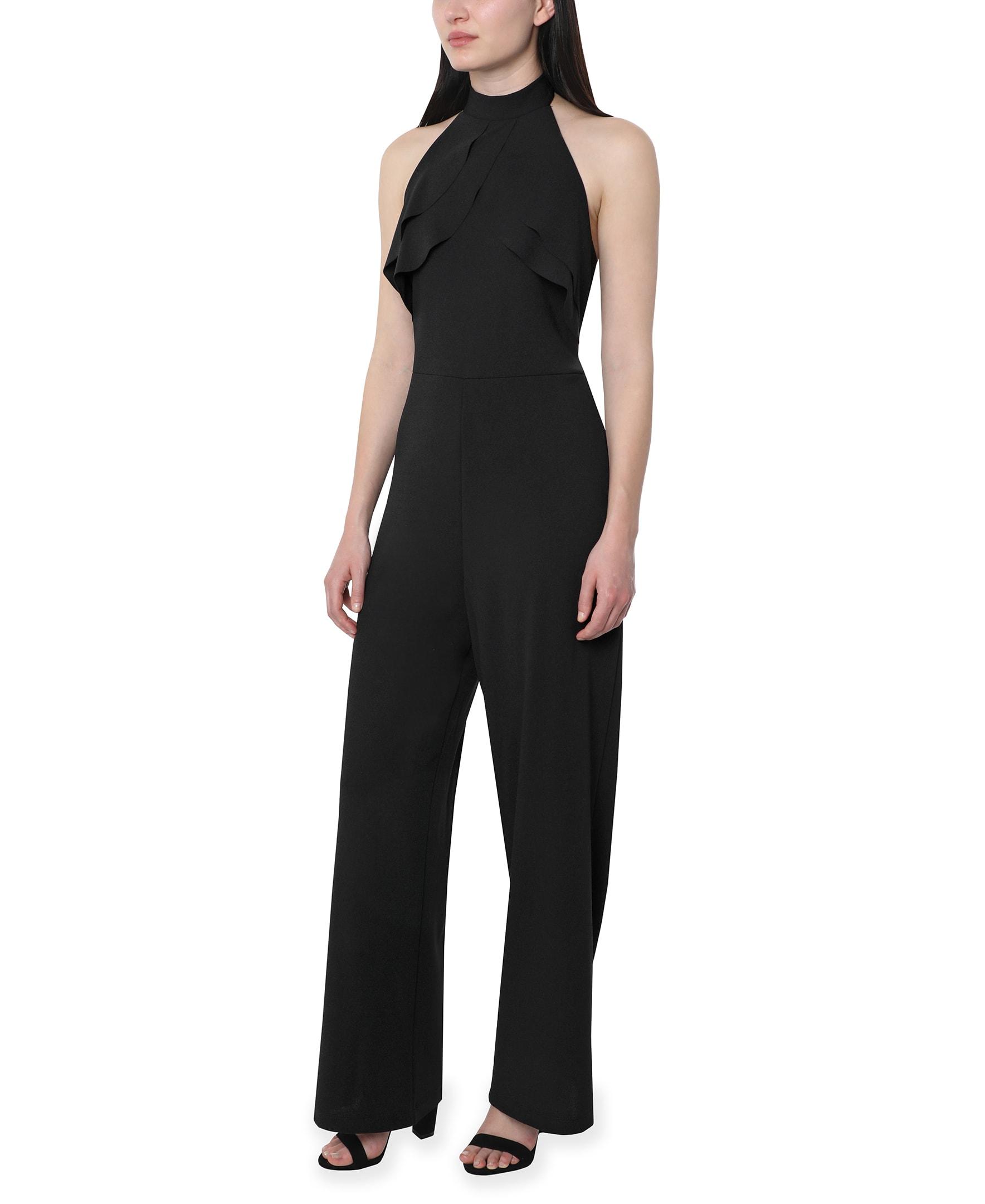 Bebe Halter Jumpsuit - black - Front
