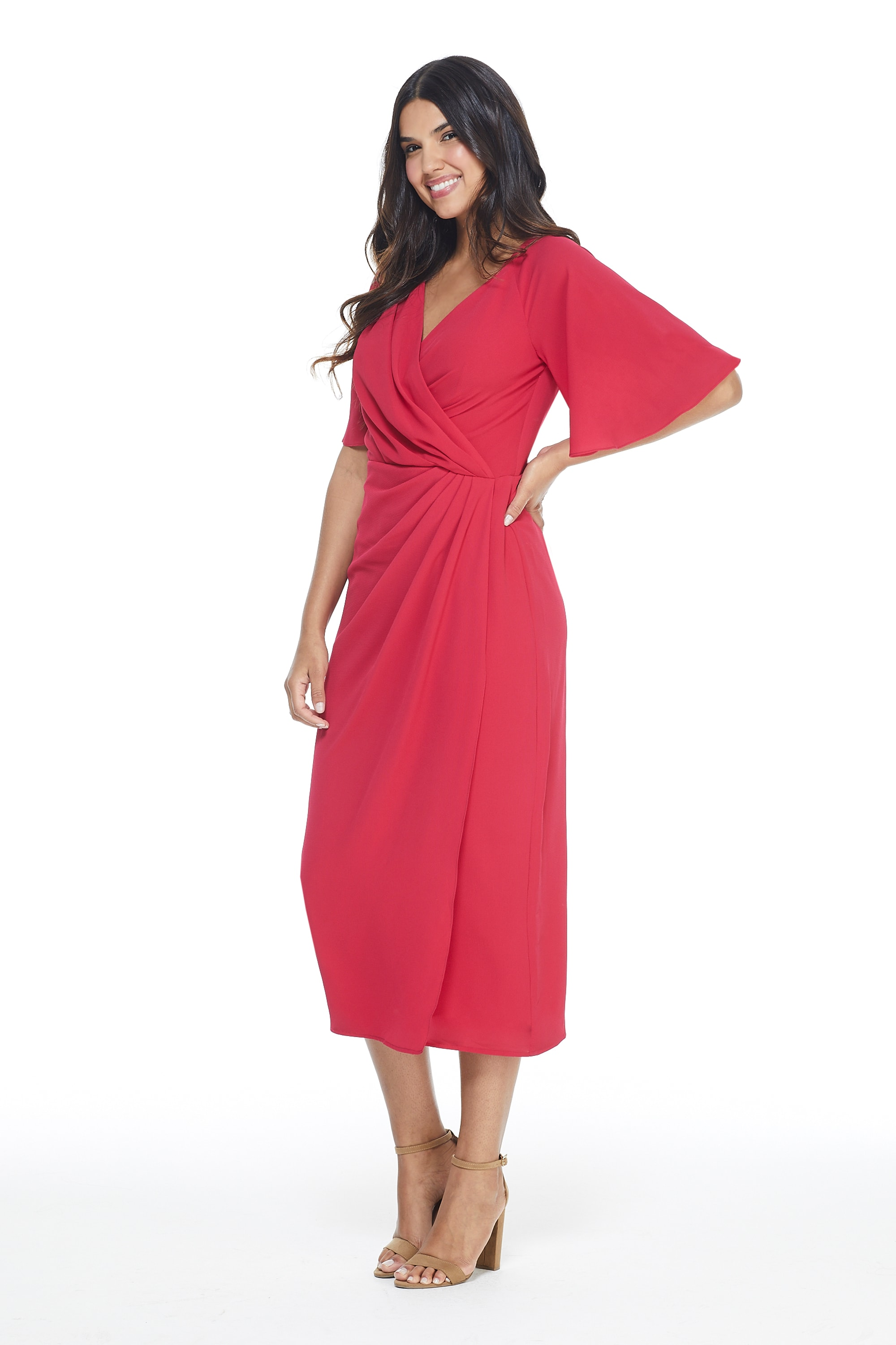 Maggy London Marse Dress - Fuschia - Front