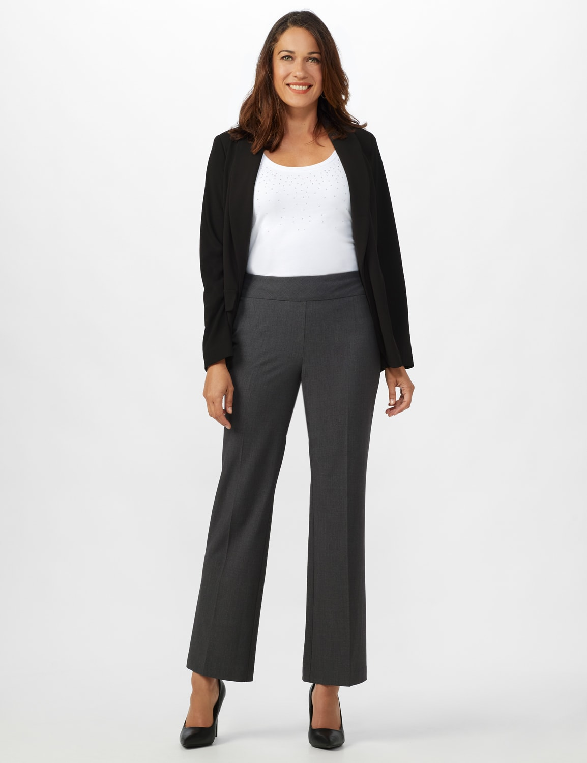 Roz & Ali Secret Agent Tummy Control Pants - Average Length - grey - Front