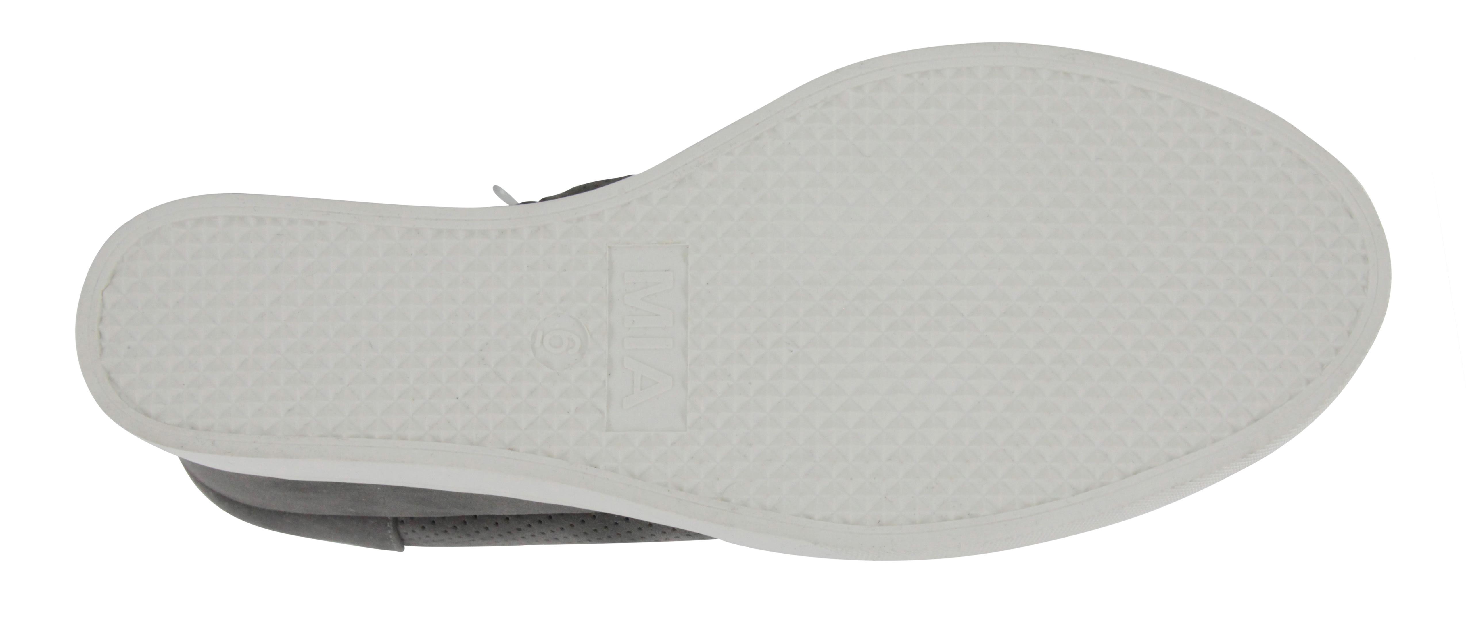Mia Cristie Wedge Sneaker - grey - Front