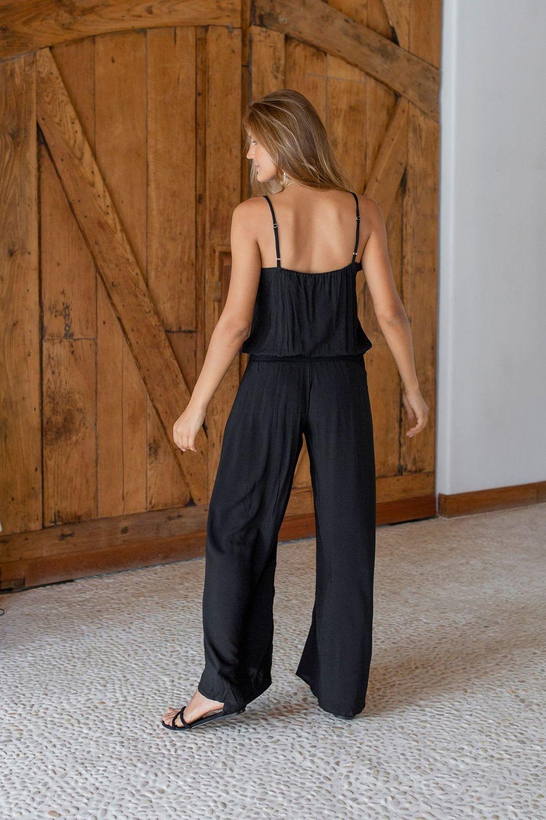 Ayla Jumpsuit - Black - Back