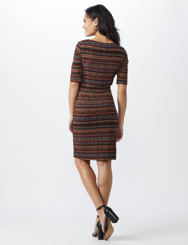 Tiered Bandage Dress  - Misses - Rust - Back