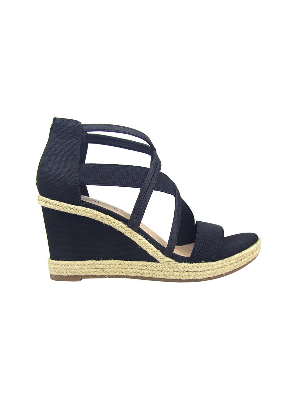 Impo Tacara Wedge Sandals - black - Back