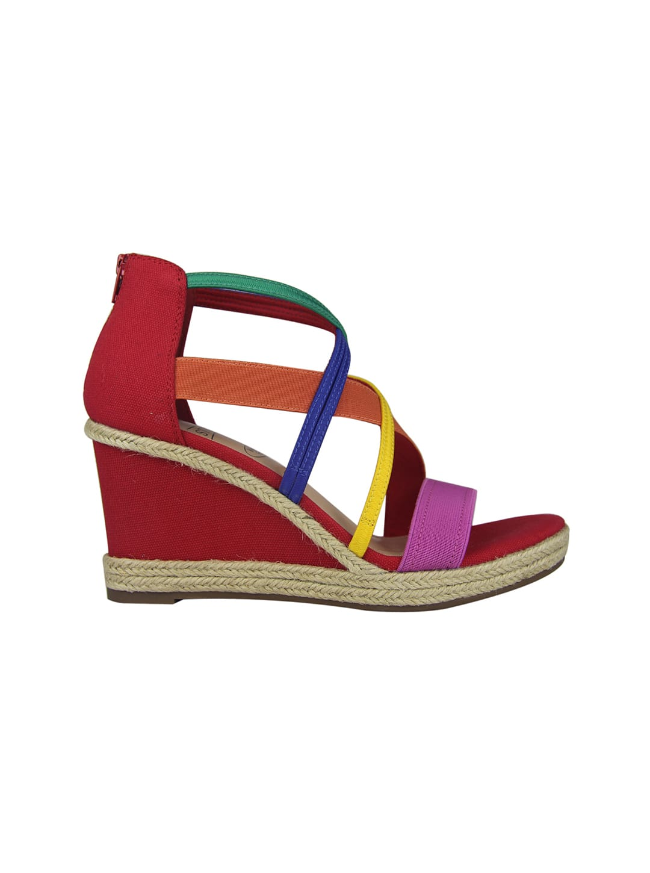 Impo Tacara Wedge Sandals - Bright Multi - Back