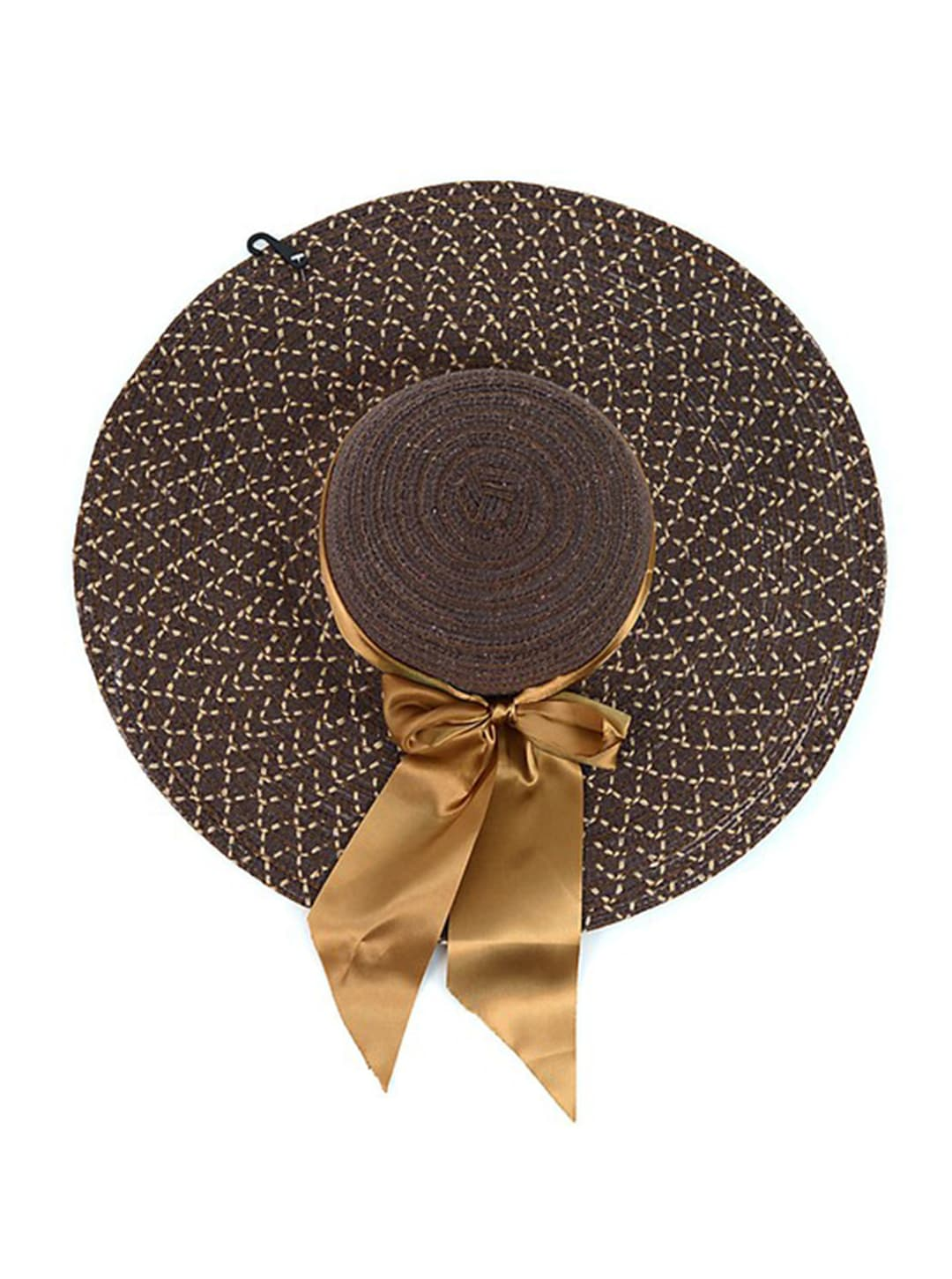 Brown Floppy Hat W/ Bow - Brown - Back