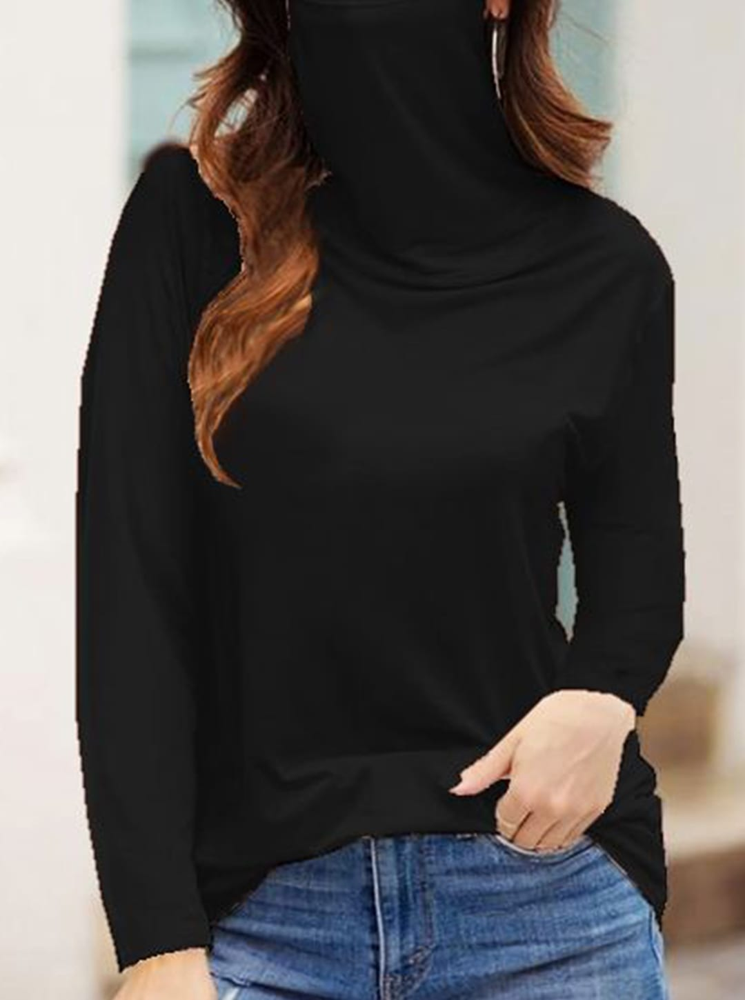 """""""Never Forget Your Mask"""" Fashion Top - Black - Front"""