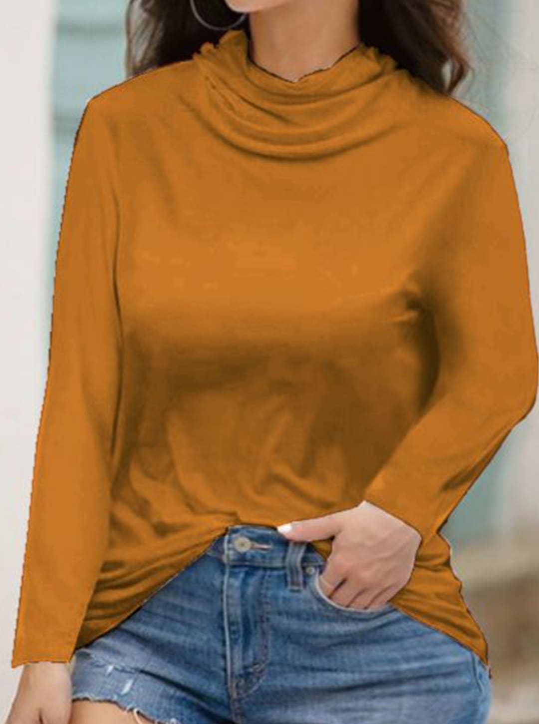 """Never Forget Your Mask"" Curve Fashion Top - Plus - Mustard - Back"