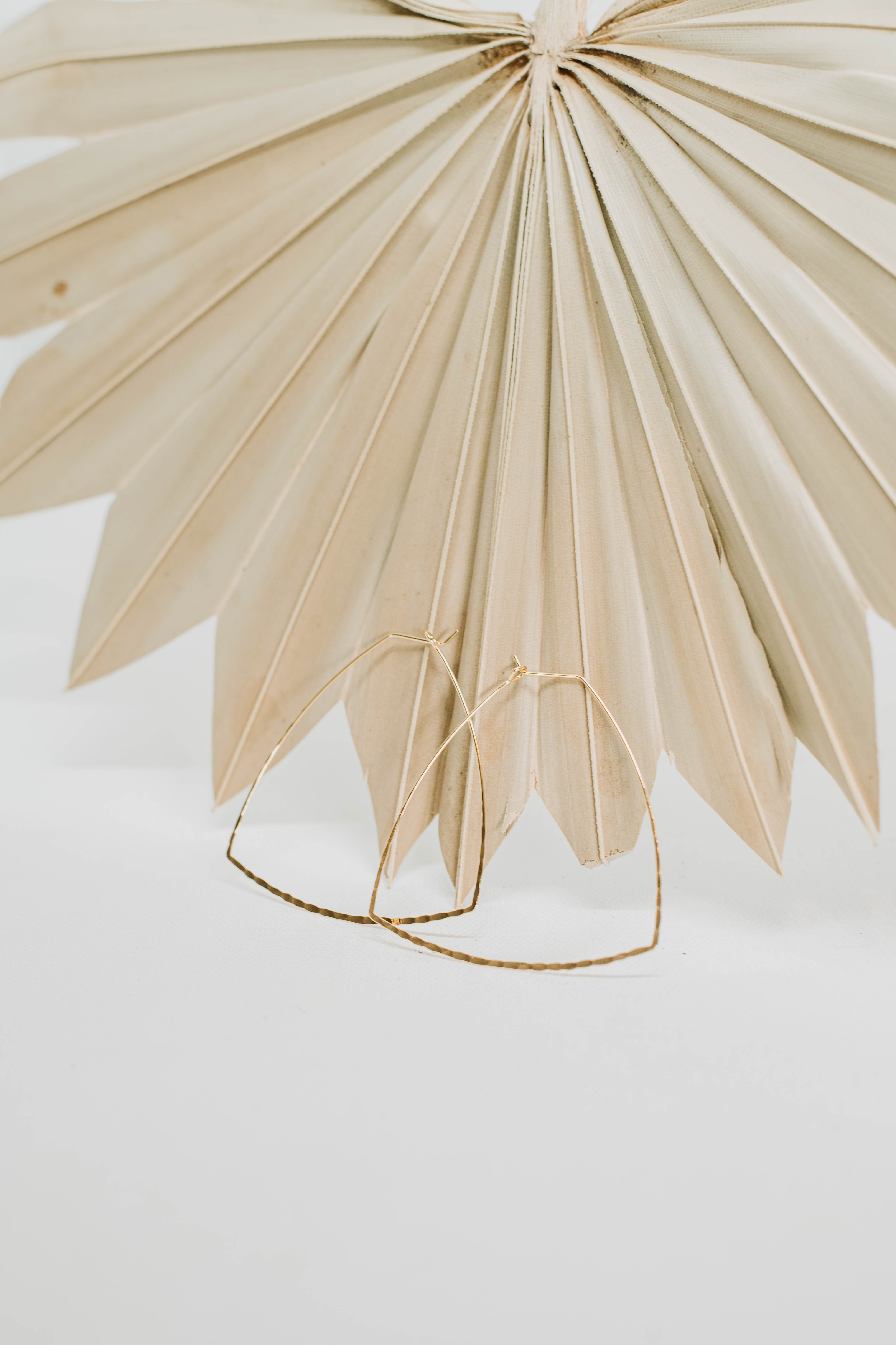 Lex Gold Plated Hammered Hoop - Gold - Back