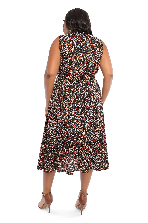 Donna  Confetti  Dress - Plus - Black/red - Back
