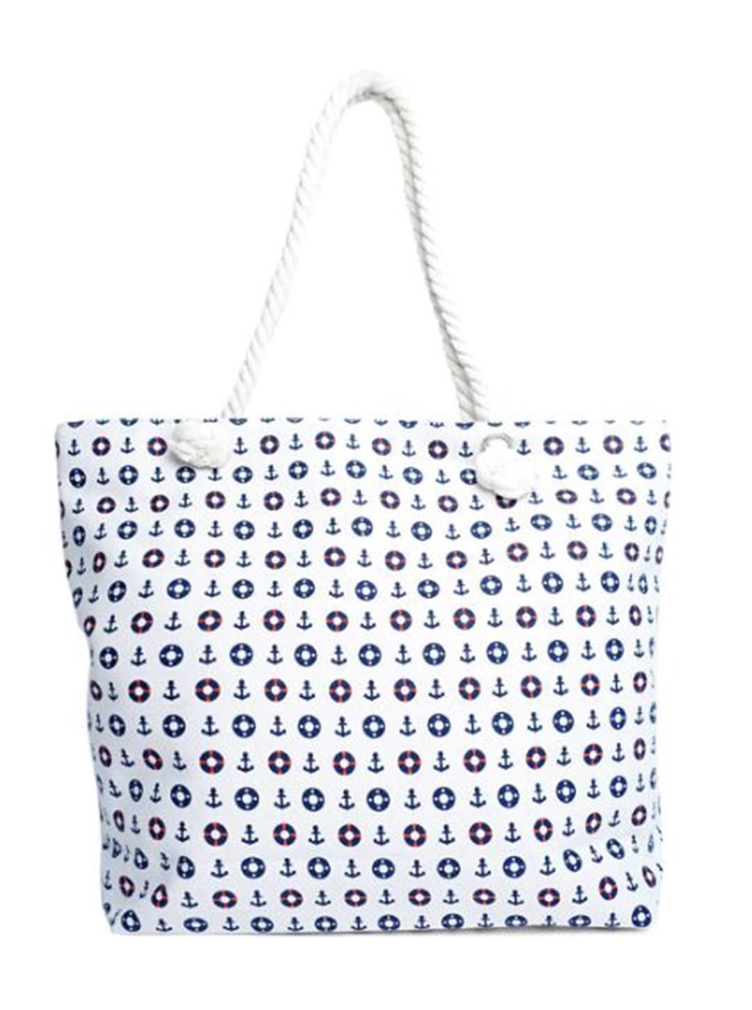 Nautical Summer Tote Bag - White - Front
