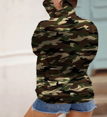 """""""Never Forget Your Mask"""" Curve Fashion Top - Plus - Camo - Back"""