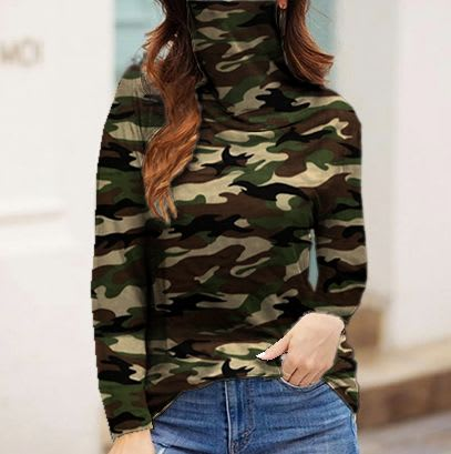 """Never Forget Your Mask"" Fashion Top - Camo - Front"
