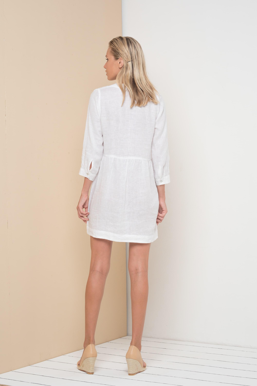 Tamara Dress - White - Back