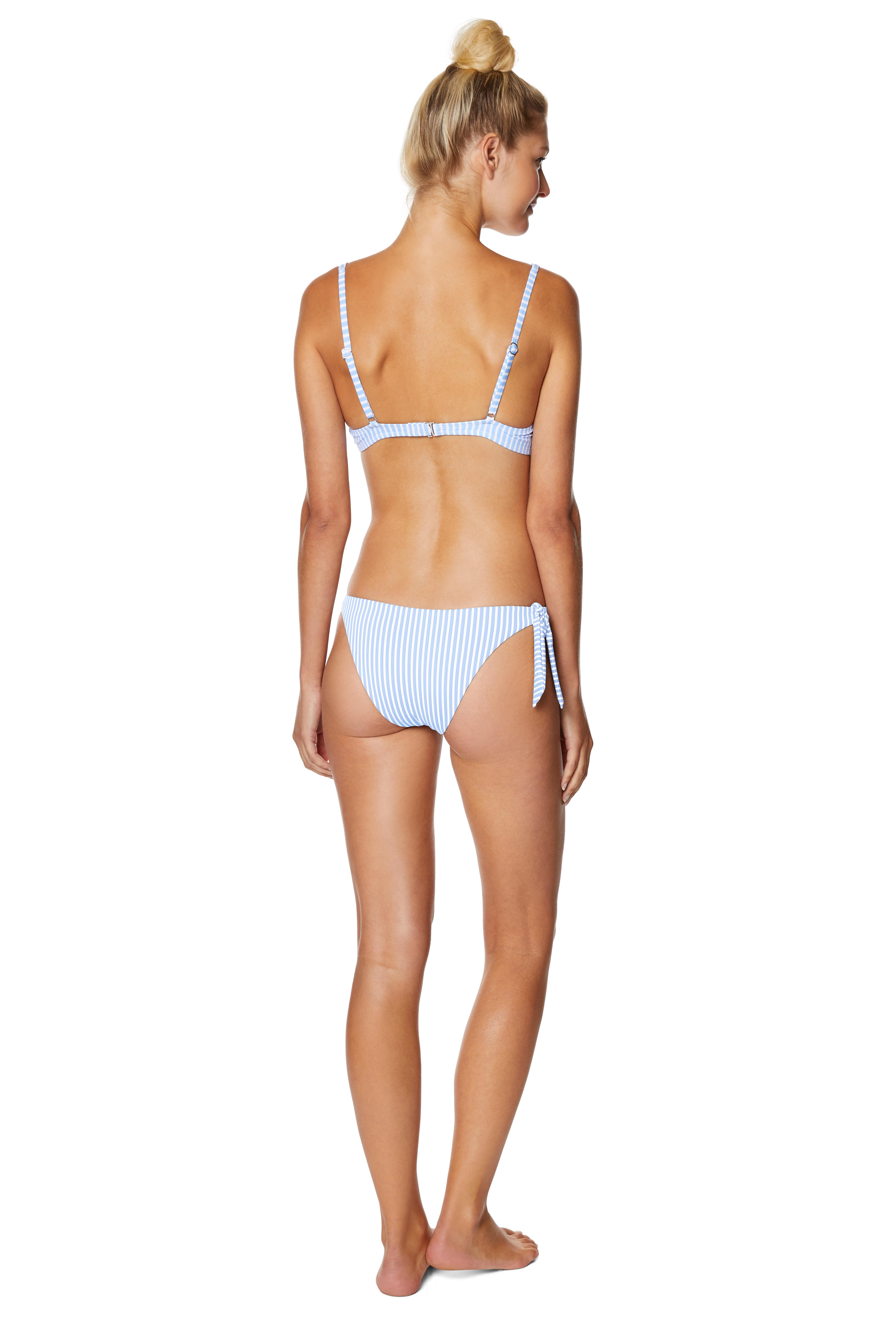 Avec Les Filles Malibu Colony Hipster Swimsuit Bottom - Chambray - Back