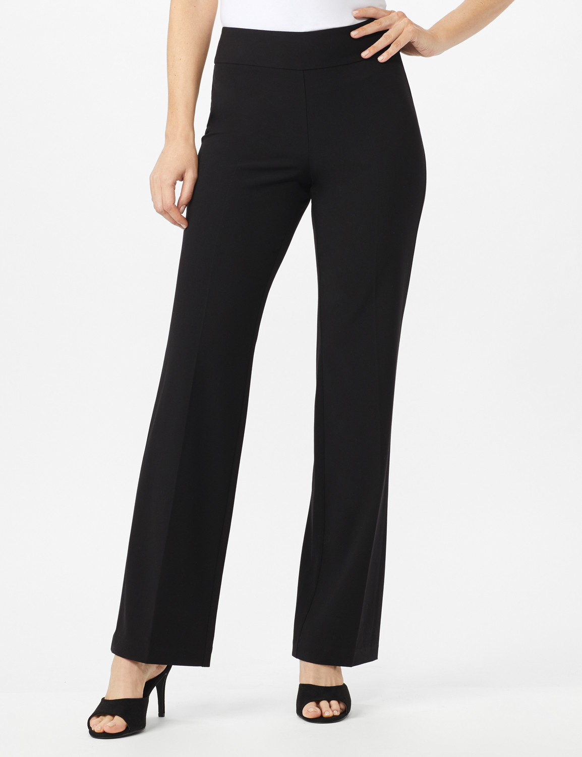 Roz & Ali Secret Agent Tummy Control Pants - Average Length -Black - Front