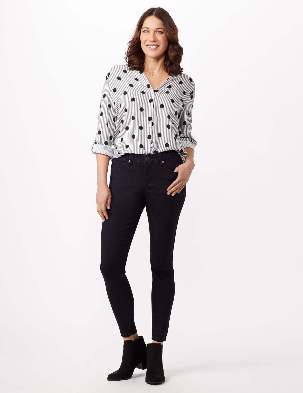 5 Pocket Goddess Fit Jeans -Dark Stone Wash - Front