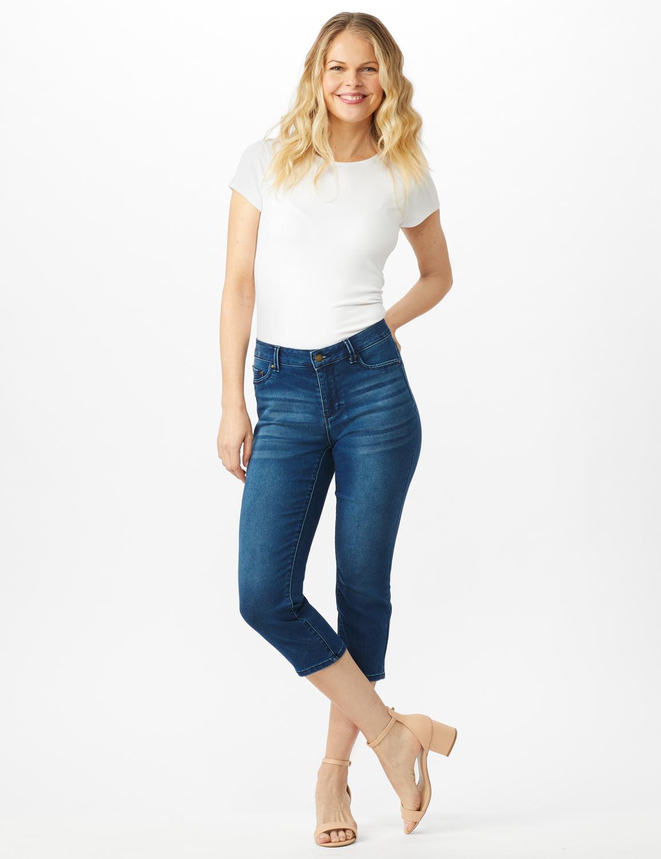 5 Pocket Skinny Crop Jean - Medium Dark Wash - Front