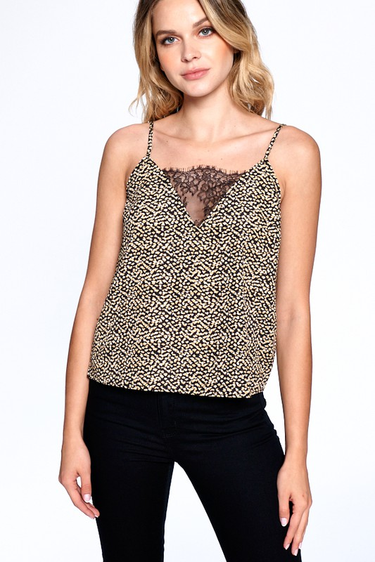 Natural Pattern Essential Tank -Black - Front