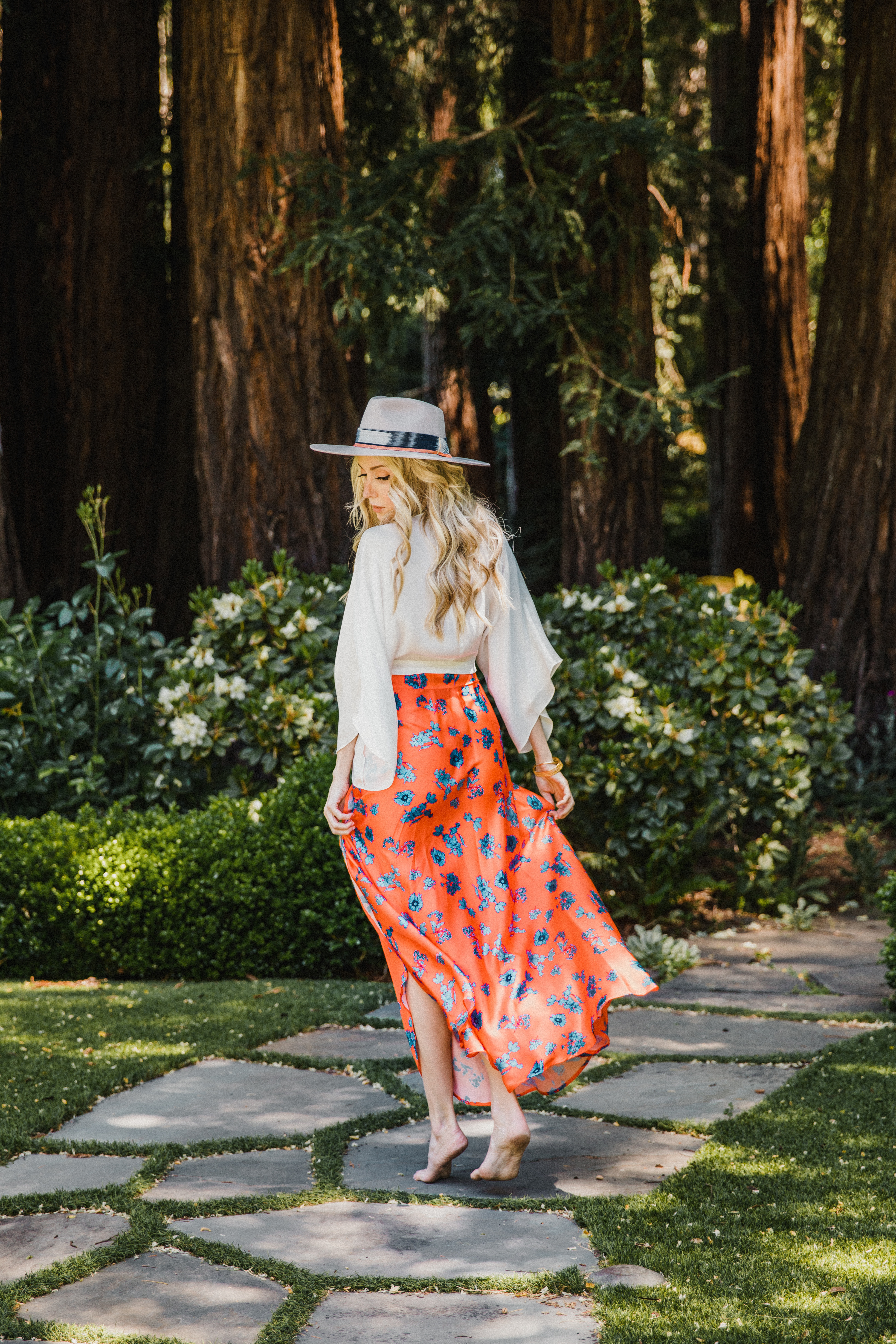 Maxi Skirt in Aix -Multi - Front