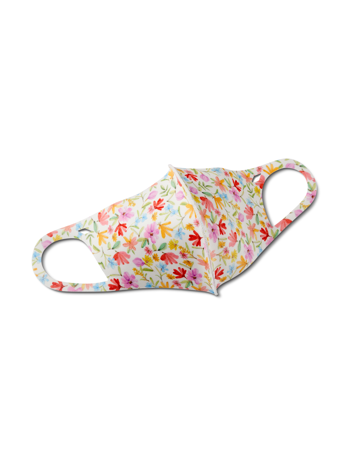 Floral Garden Anti-Bacterial Fashion Face Mask -Multi - Front