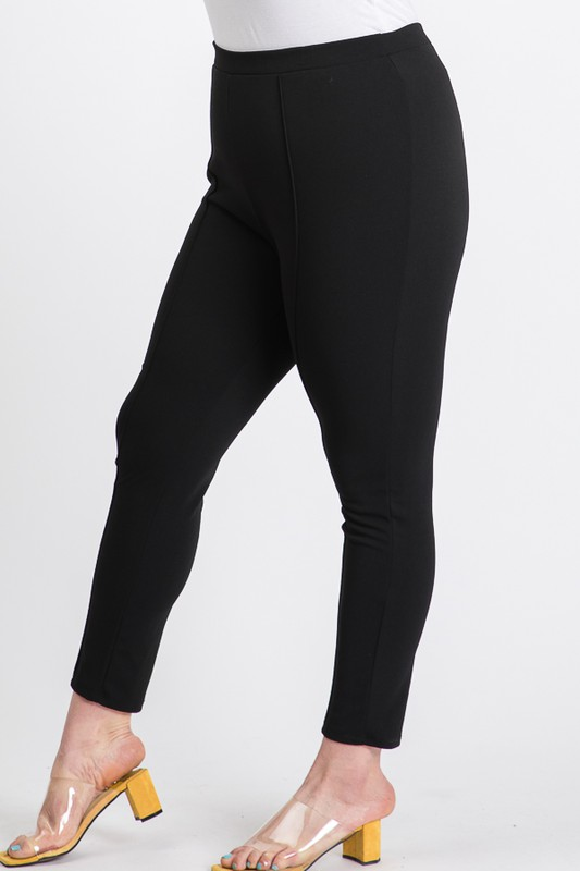 Everyday Skinny Pants -Black - Front