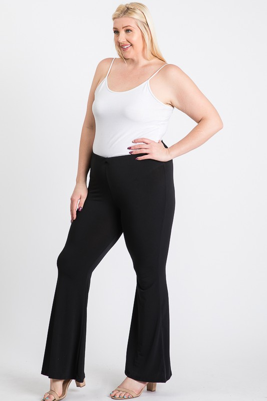 Extra days Wide Pants - Black - Front