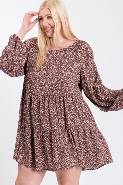 Fresh Look Summer Dress -Burgundy - Front
