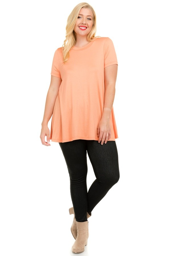 Good-To-Go Tee -Coral - Front