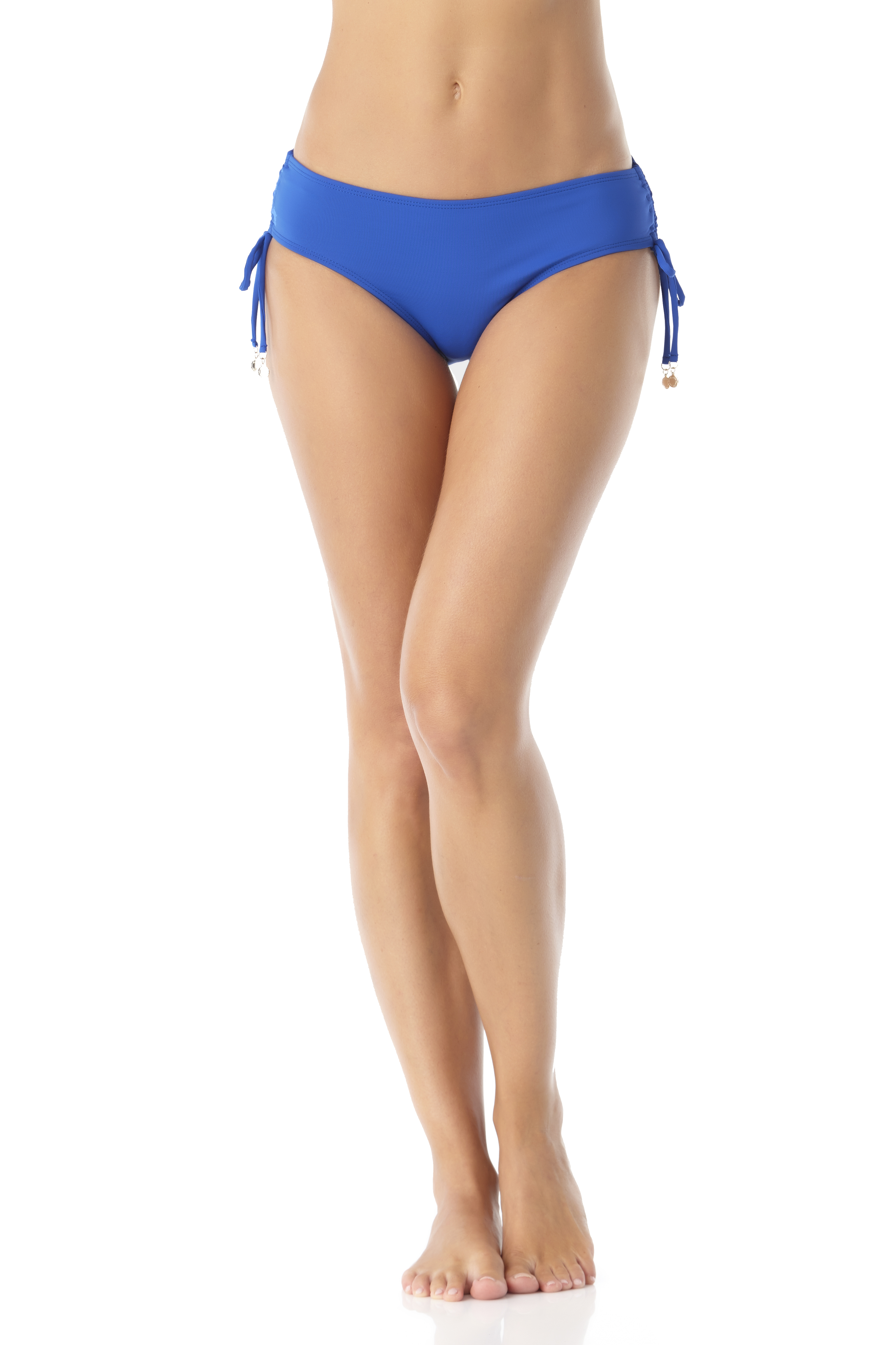 Anne Cole® Live in Color Adjustable Bikini Swimsuit Bottom - Blueberry - Front