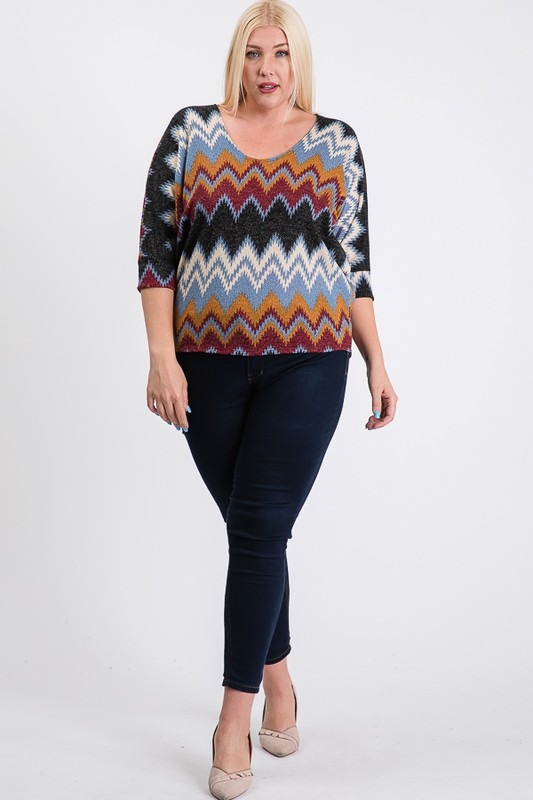 Multi-Colored Basic Shirt -Burgundy - Front