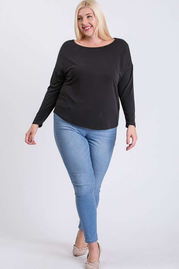 Daily Use Cupro Jersey Top -Black - Front