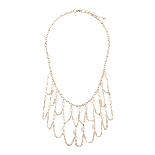 Gold Chain Necklace -Gold - Front