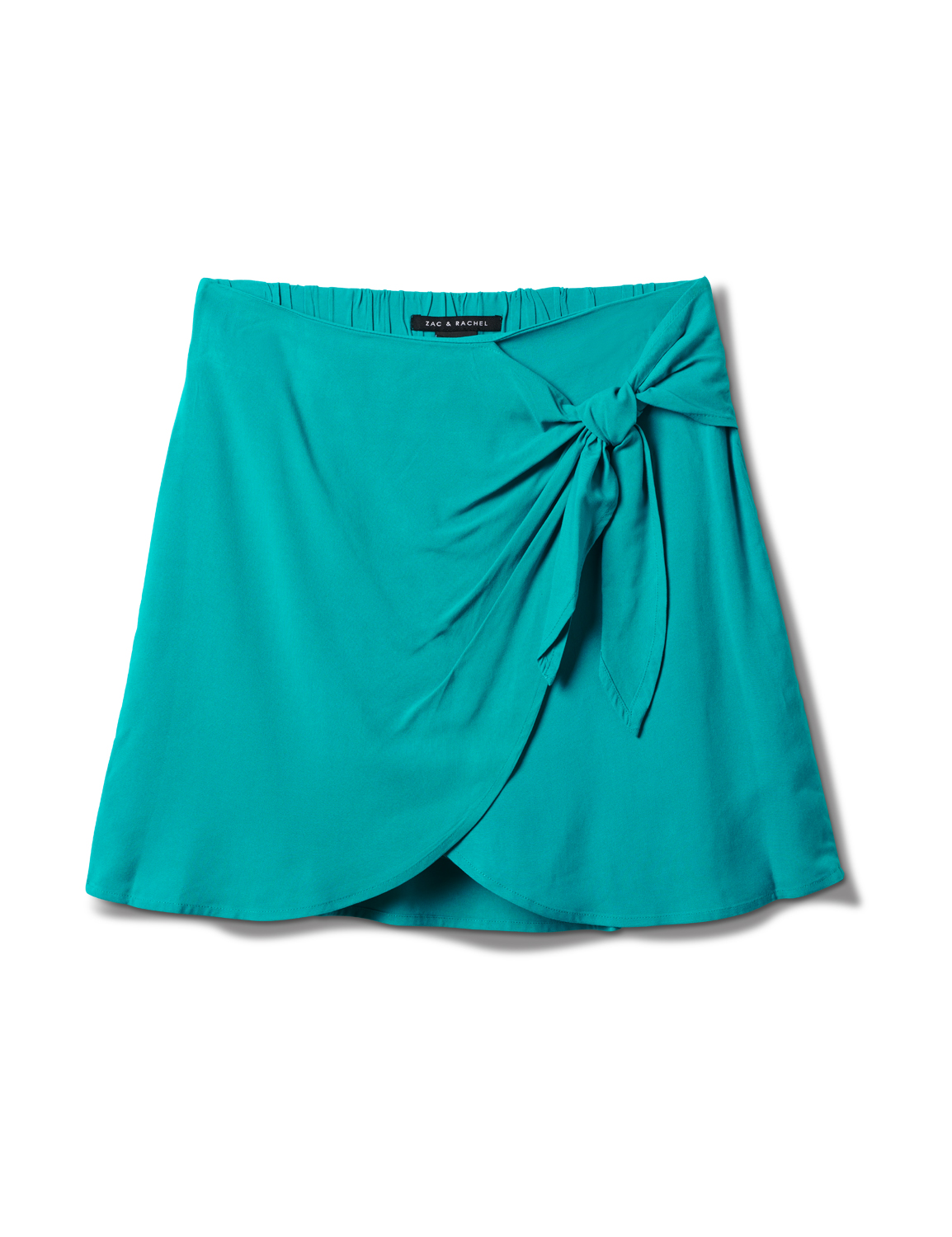 Pull On Skort with Back Elastic - Teal - Front