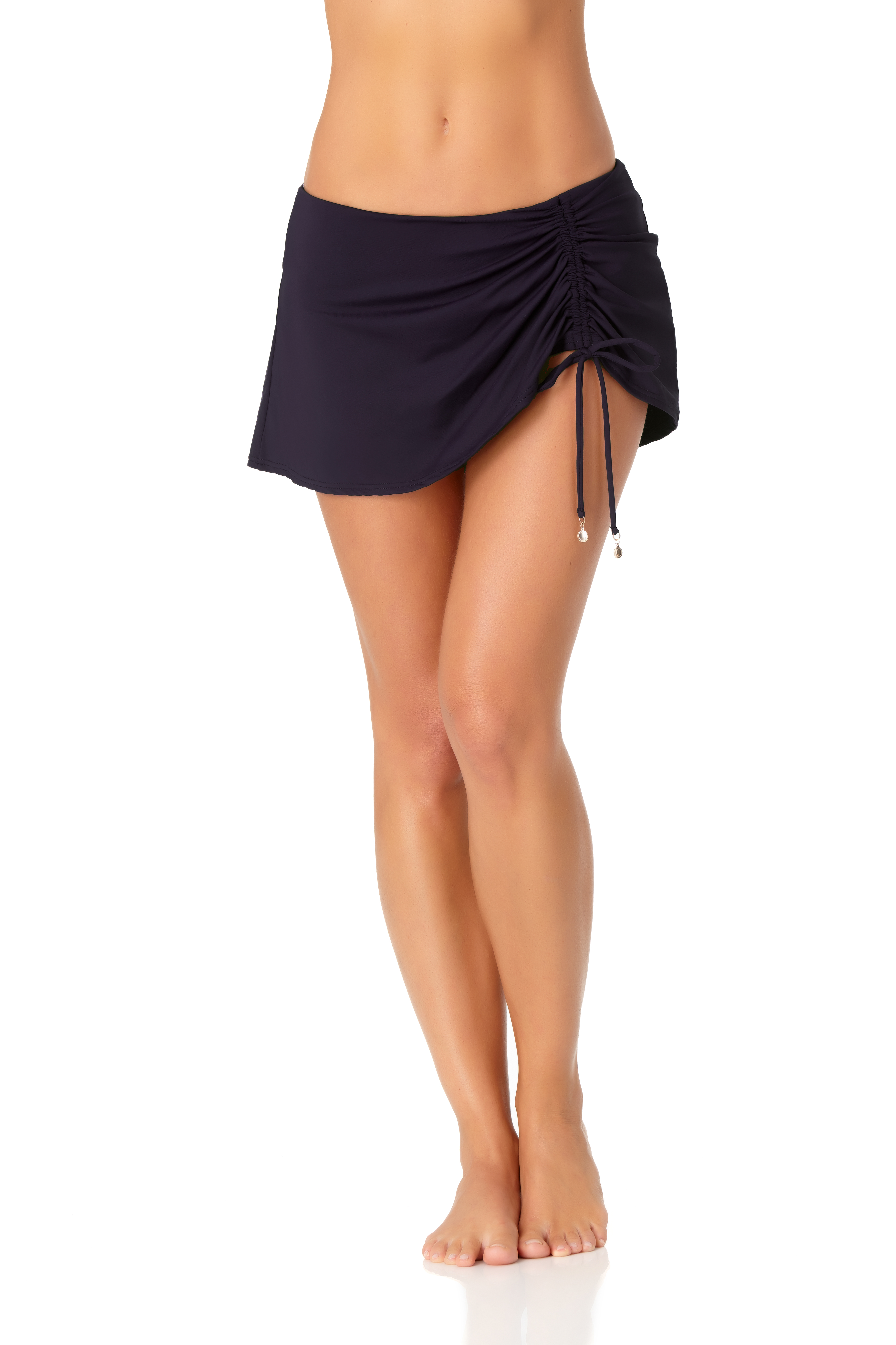 Anne Cole® Live in Color Sarong Swimsuit Skirt Bottom - Misses -Navy - Front