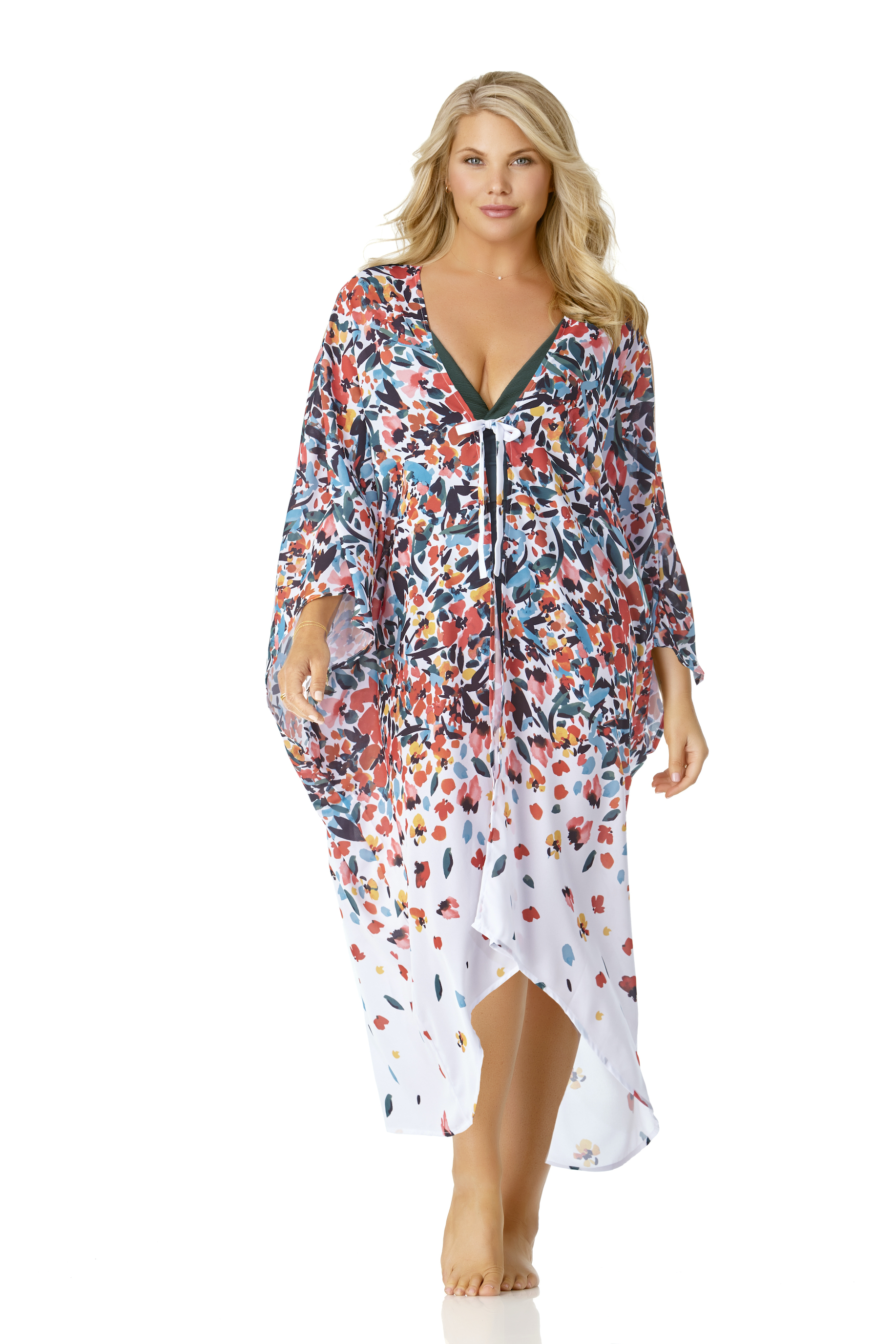Anne Cole® Sunset Floral Maxi Swimsuit Cover-Up -Multi - Front