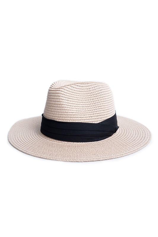Spring/Summer Women's Wide Brim Hat - Pink - Front