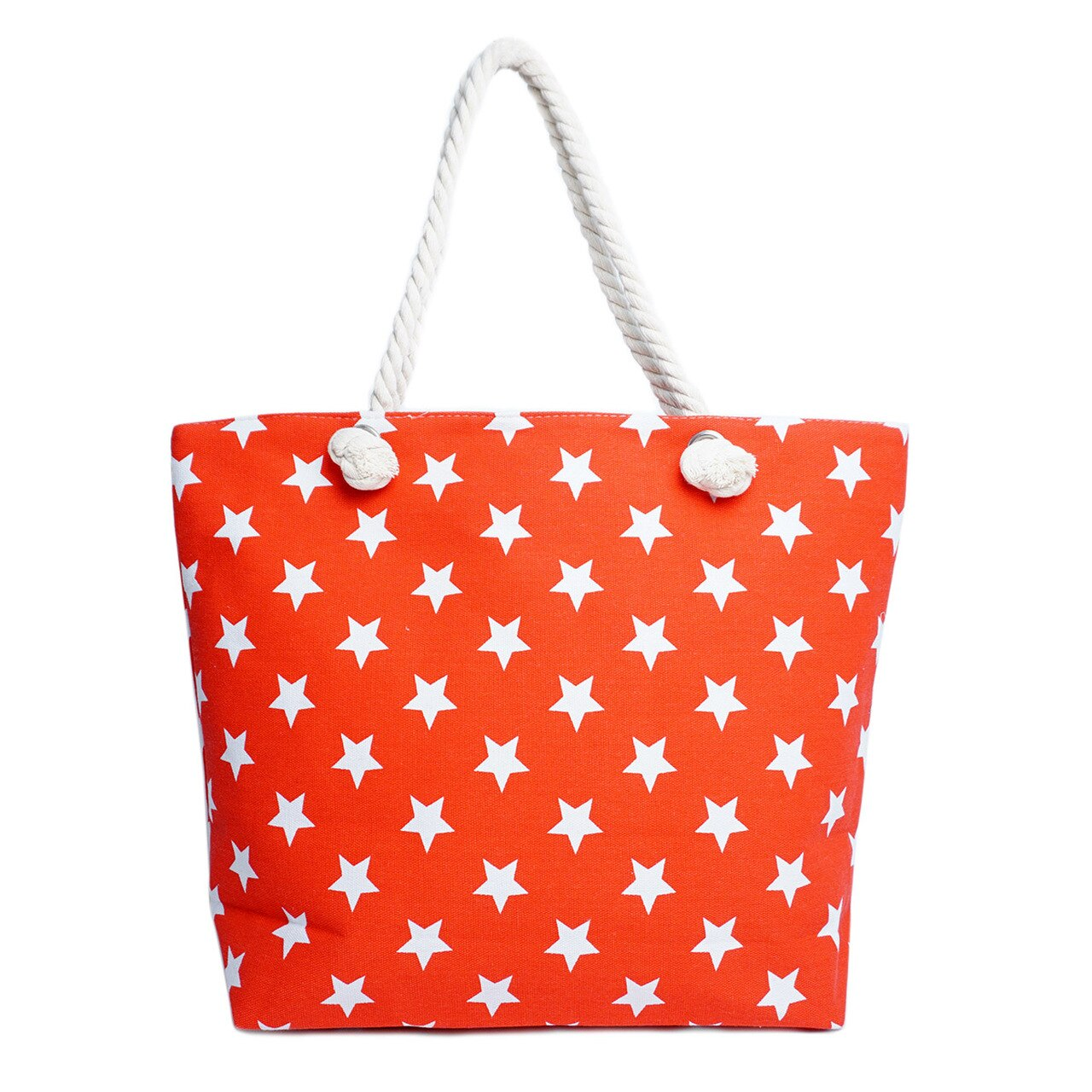 Red Stars Tote Bag -Red - Front