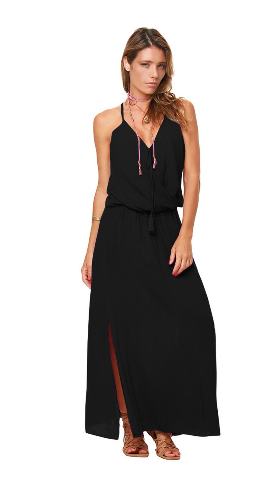 Sunstar Dress - Black - Front