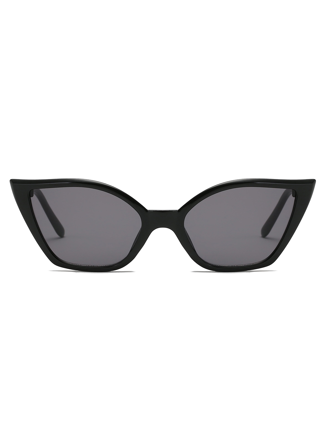 Retro Vintage Cat-eye sunglasses - Black - Front