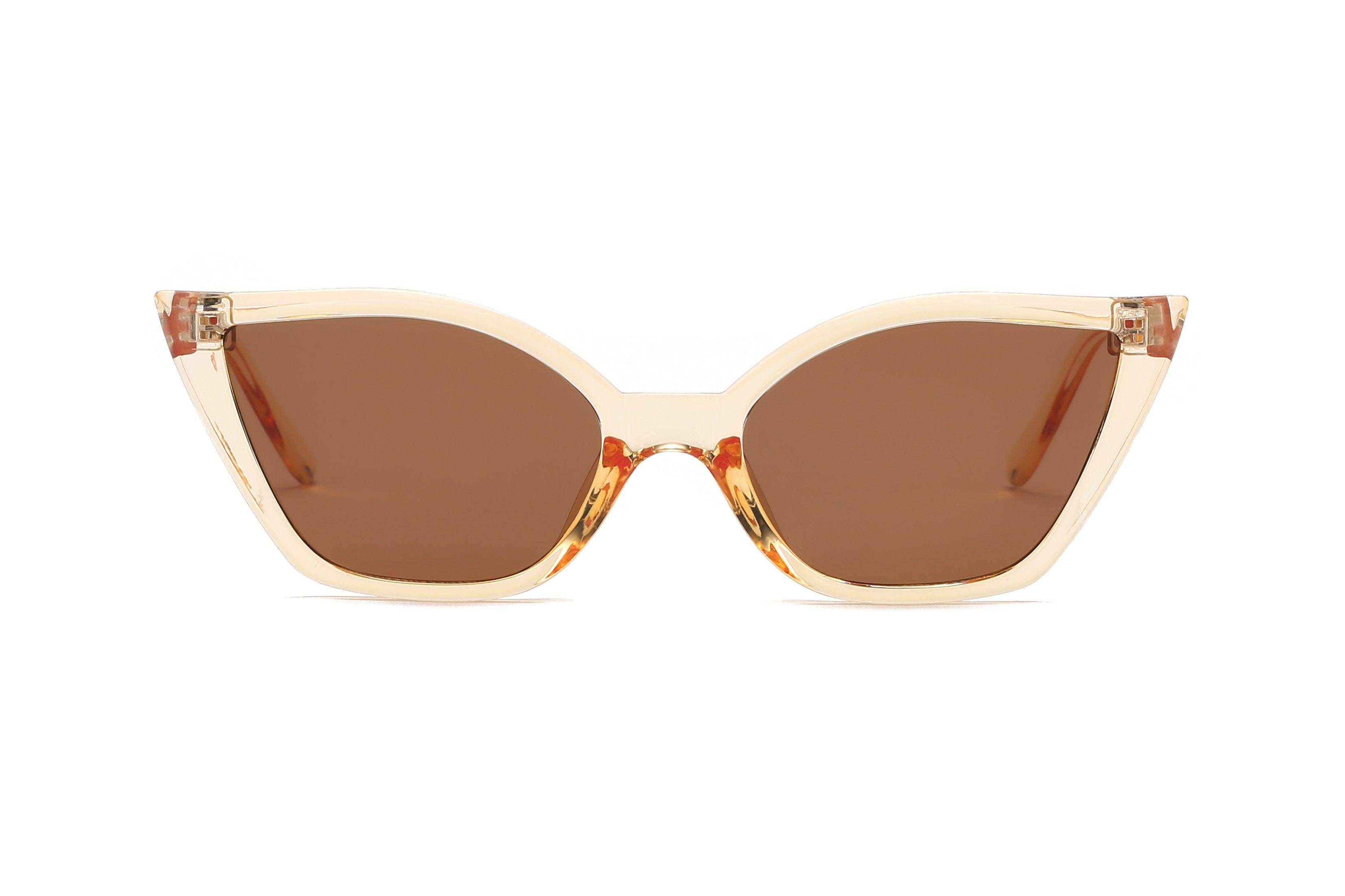 Retro Vintage Cat-eye sunglasses -Brown - Front