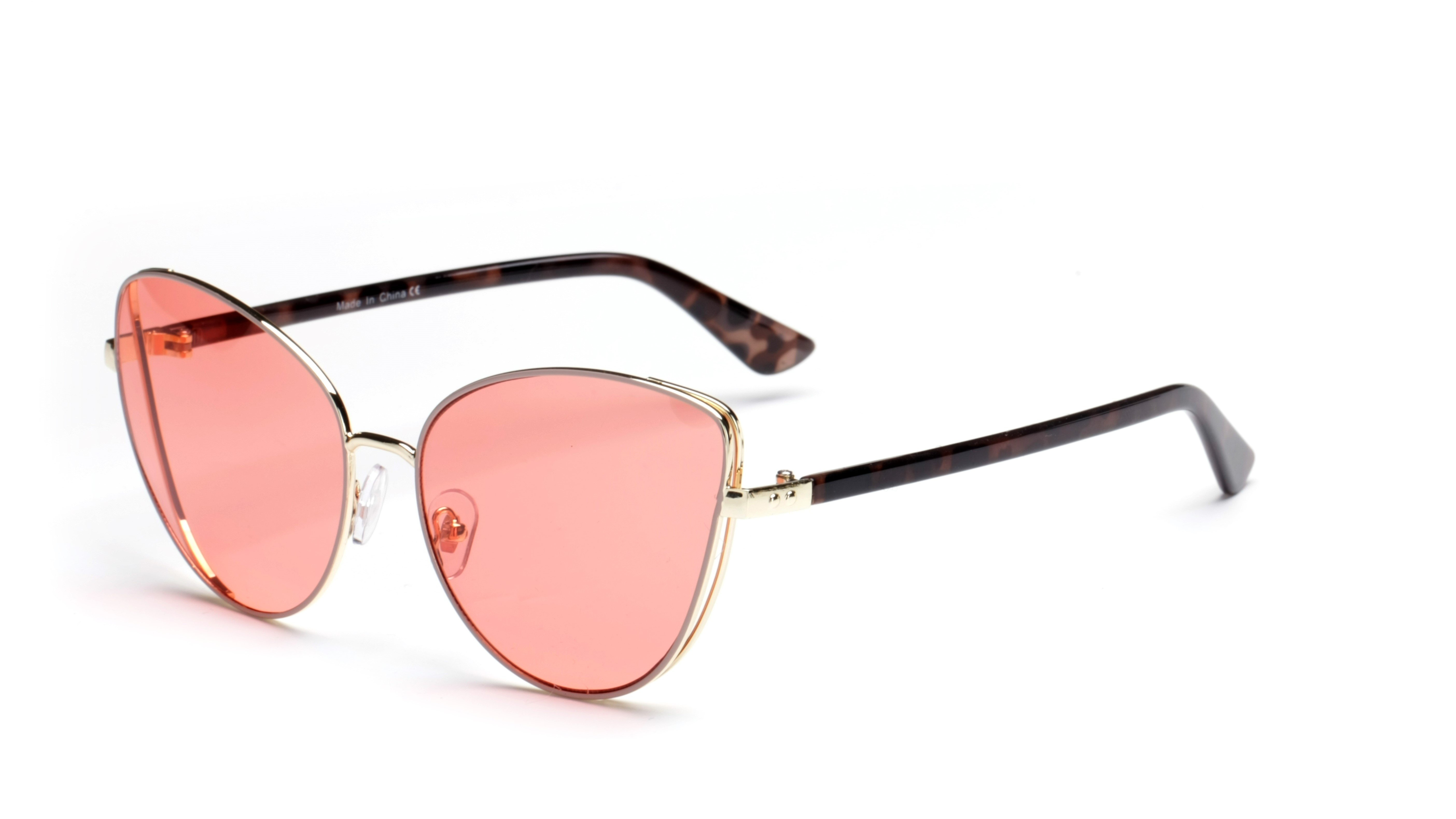 Women Cat-Eye Sunglasses -Pink - Front