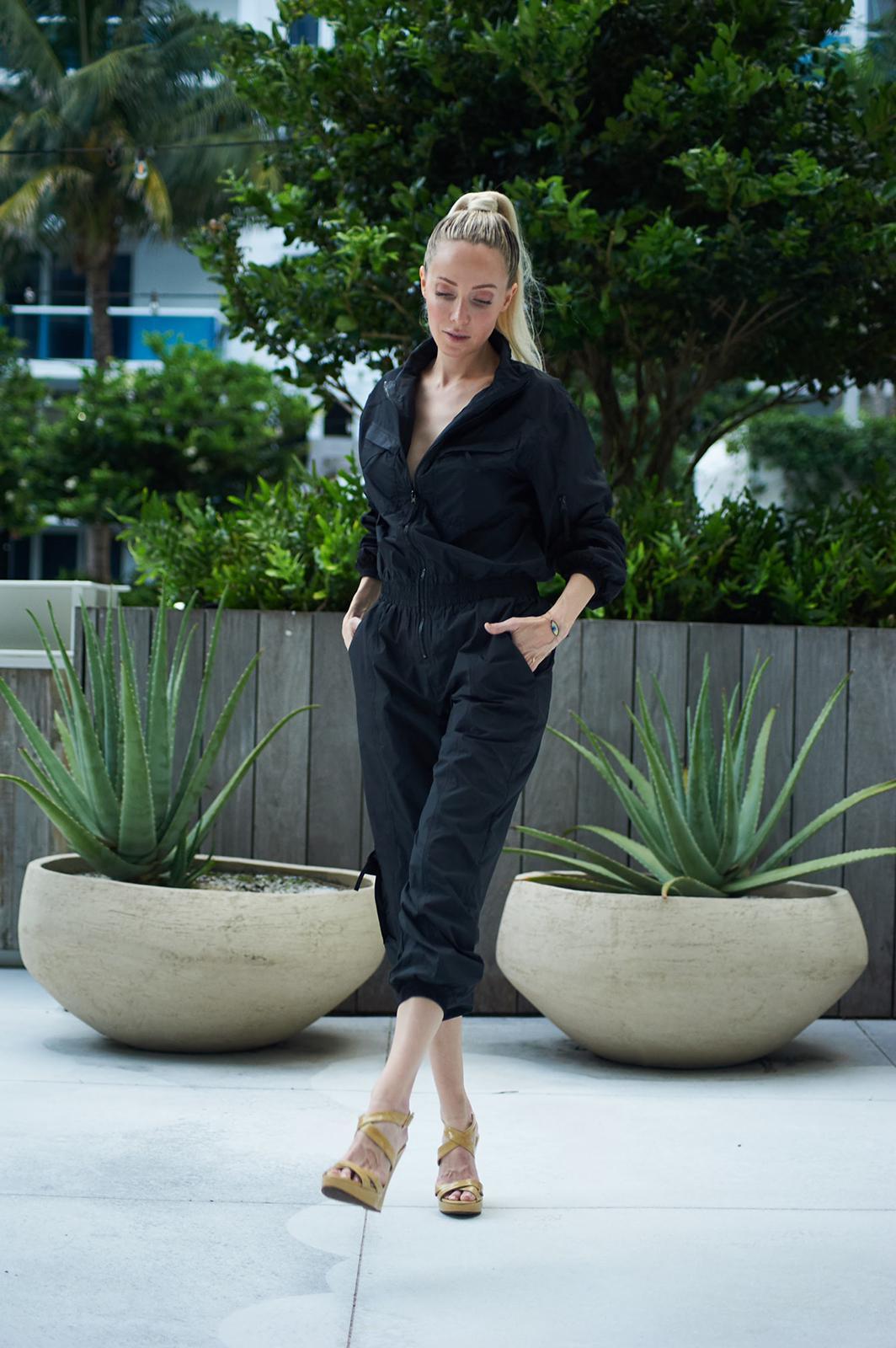 Luiza Jumpsuit -Black - Front
