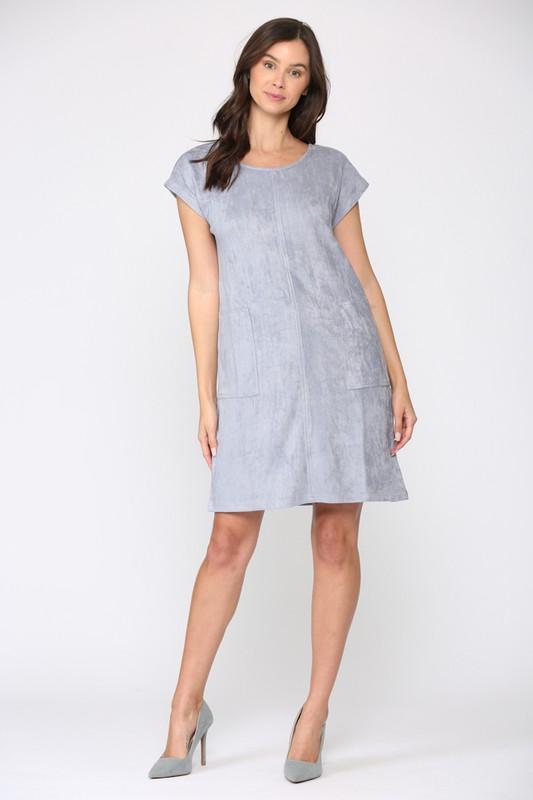 Ariel Tunic Dress - Pebble - Front