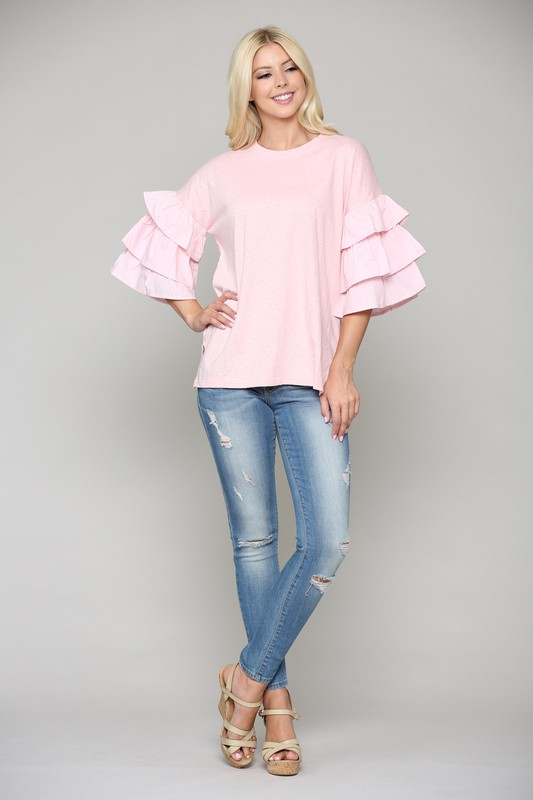 Camryn Top -Pink - Front