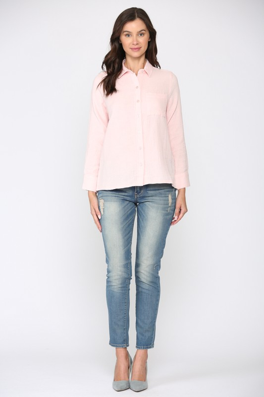 Gretta Top -Pink - Front