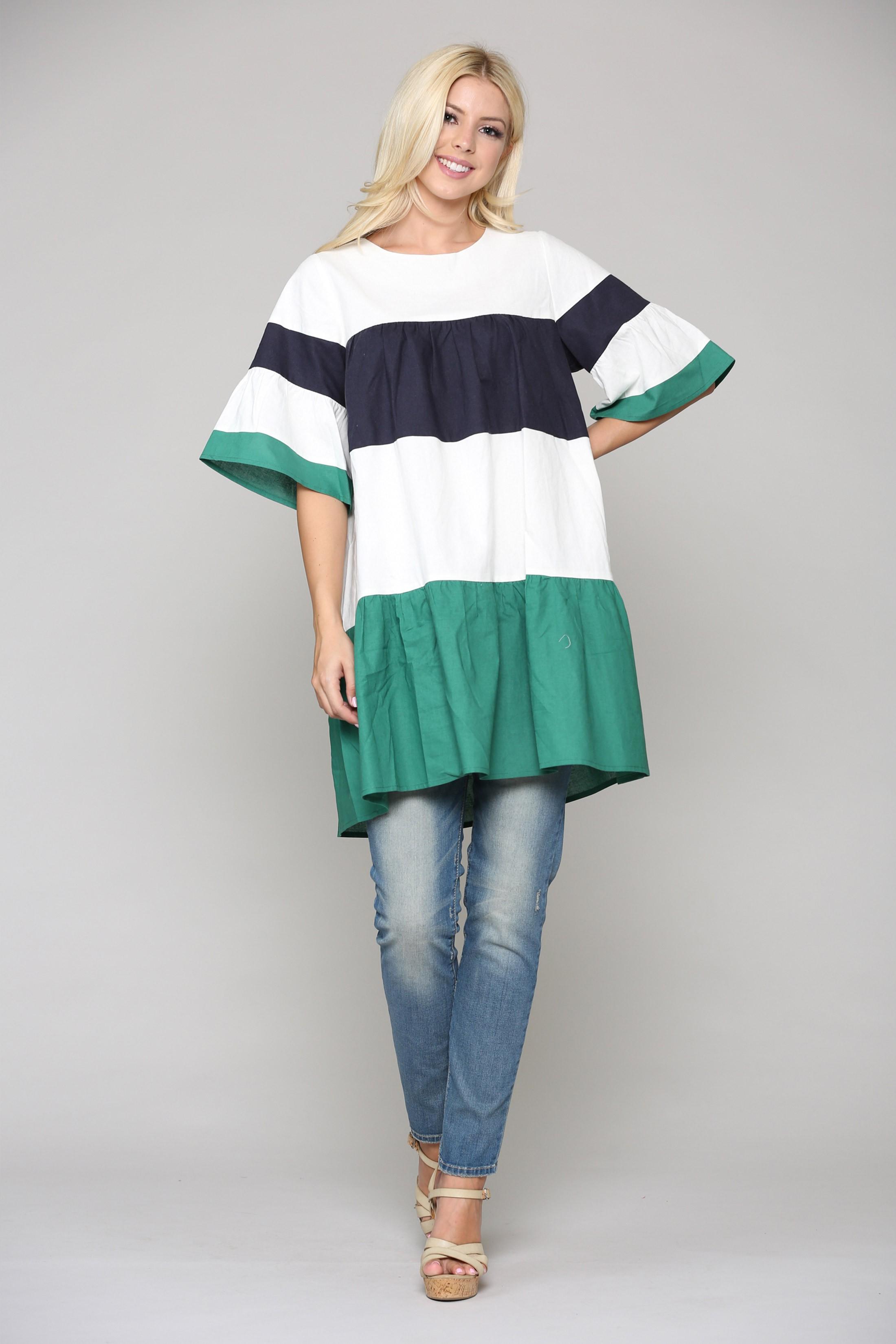 Lorena Tunic Dress -Multi - Front
